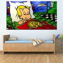 New sleep on wall Alec monopoly Graffiti arts print canvas for wall art decoration oil painting wall painting picture No framed