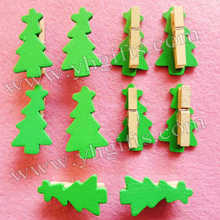 100PCS/LOT.Mini christmas tree clip,Picture clip,Memo clip,Name card clip,Xmas tree ornament,0.5x3cm,Freeshipping.Wholesale