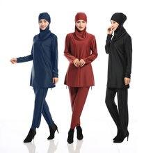Women Plus Size Printed Floral Muslim Swimwear Hijab Muslimah Islamic Swimsuit Swim Surf Wear Sport Bikinis muslimi uimapuku(China)