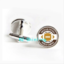2017 wholesale American Football World Campus Cufflinks Best Rugby Team Cuff link Shirt Cufflinks Women