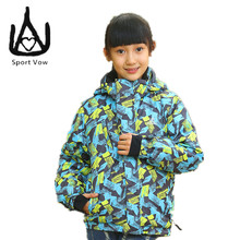 2016 Cheap-snow-clothes Ski Jacket Snowboard Waterproof Boy Snow Jackets Girls Sport Winter Coat Removable Hood Mountain Skiing