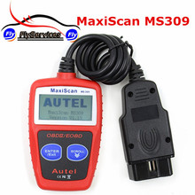 2017 High Quality MaxiScan MS309 OBD2 OBDII Scanner Code Reader Car Diagnostic Tool MS 309 Fast Shipping