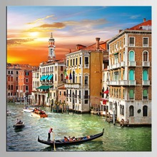 1 panel islands canvas painting home decorative Mediterranean Venice sailboat landscape paintings the living room(China)