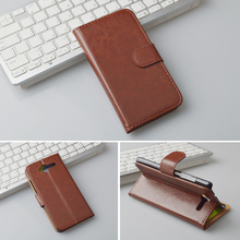 Stand Wallet Style PU Leather Flip Case For ZTE Blade L3 Cover Luxury Flip Wallet Design with Card Slot Black Brown