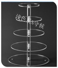 Cake Display Stand / Plexiglass display holder free shopping/5 Tier Acrylic Cake Stands wedding decoration