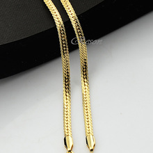 1pcs 3mm 4mm Width Herringbone Snake Chains Yellow Gold Filled Necklace Men Women Wholesale Jewelry 18inch-27inch