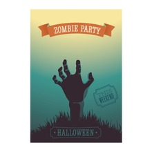 Zombie Party Halloween Garden Flags Designed With Double Sided Printing Flag Decorative Outdoor And Indoor Home Banner