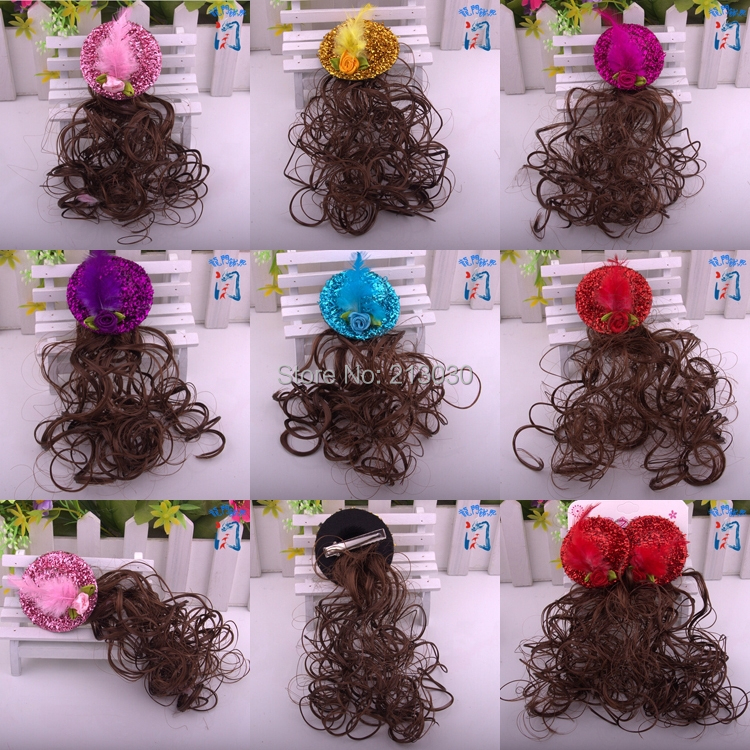 New Korean billycock Hairpin for kids Children's wig Hair accessory Hat design headwear with Clips for wedding party 12pcs/lot(China (Mainland))
