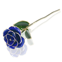 WR 24k Gold Plated Rose Flower Creative Valentine's Day Gifts Artificial Flower Red 10 Colors Rose Lover's Flower(China)