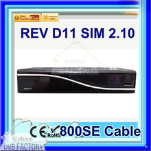 1PC iTEEVEE Cable TV Receiver Dm800hd se cable REV D11 sim 2.10 Linux Operating System Enigma2 DM 800HD SE Cable DVB-C tuner
