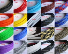 "10MM 13/32"" TIGHT Braided PET Expandable Sleeving Cable Wire Sheath Black/Red/Orange/Yellow/Green/Blue/Purple/Gray/White/Clear"