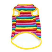 1PC Pet Dog Thicking Warm Fabric puppy-clothes Rainbow Loose Coat disfraces para perros Pet Clothes roupa
