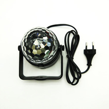 LED Stage Light 3W RGB Mini Projector Crystal Magic Ball Stage Lighting Effect Lamp DJ Club Party Disco Light Show Free Shipping