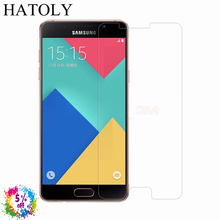 2PCS Tempered Glass For Samsung Galaxy A5 2016 Ultra-thin Screen Protector for Samsung A5 2016 A510 HD Toughened Film HATOLY
