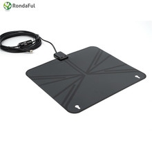 View TV Flat HD Digital Indoor Amplified TV Antenna with Amplifier 50 Miles Range digital tv signal amplifier antenna antennas