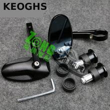 KEOGHS Cnc Grip End Mirror Motorcycle Handlebar Rear Mirror High Quality For Honda Yamaha Kawasaki Suzuki Ducati Aprilia Modify