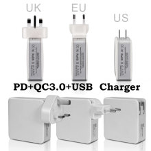 PD+QC3.0+USB multifunctional Travel charger For New Macbook NINTENDO SWITCH xiaomi notebook Google pixel iPhone,Nexus 5X,Nexus(China)