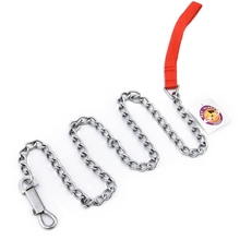 Hard Leashes S/L Size Pet Chain Red Nylon Handle Dog Leash 122cm 48'' Long Outdoor Walk Training Safety Puppy Lead
