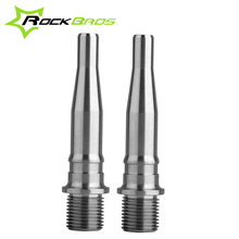 ROCKBROS Road Bike Titanium Alloy Ti Pedals Spindle Axle Bicycle Pedals Bearing Bicycle Parts Spindle For Road Bike 1 Pair(China)