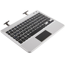 Multifunctional Super Thin Slim Aluminum Bluetooth Keyboard For Tablet Fit For 7/8/9/10 Inch Tablets Silver/Black Best Gifts