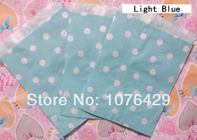 25 Pcs Light Blue Polka Dot Treat Craft Bags Favor Food Paper Bags Party Wedding Birthday Decoration Color 9