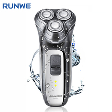 RUNWE RS980 Safety Switch Lock Electric Shaver For Men Personal Care Razor Washable 3D Floating Rotary Rechargeable Razor(China)