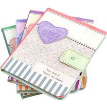 New Cute Love Fabric Pattern Notebook Cloth Drawing Pattern Cover Notepad Learning Supplies School