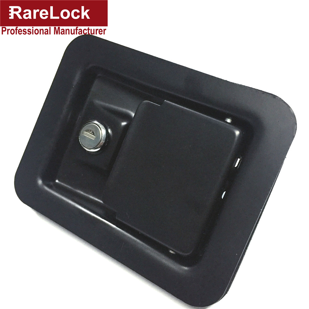 Rarelock New High Quality Electrophoretic Paint Black Steel Simple Locker Bus,Truck,Cabinet,Box Lock Cerradura g<br>