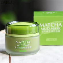 LAIKOU Matcha Mud Mask Facial Mask Cream Deep Cleaning Moisturizing Oil-Control Acne Treatment Blackhead Remover Pore Cleanser(China)
