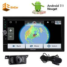 Eincar Android 7.1 2Din In Dash Car Radio Stereo GPS Navigation Autoradio USB Wifi External Microphone OBD2 Player Backup Camera(China)