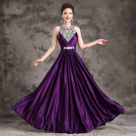 ... Bridesmaid Dress Women Halter Wedding Party Gown Chiffon Crystal Long Bridesmaid  Dresses 2018 Hot Royal Blue Plus size on Aliexpress.com  6e378300584c