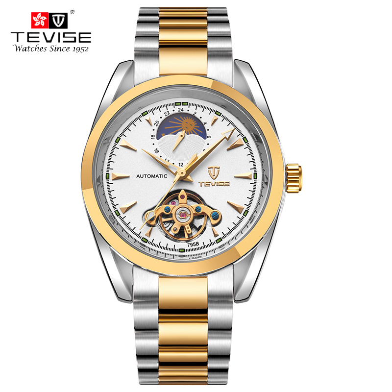 TEVISE Swiss Brand Mens Watches Automatic Mechanical Watches Tourbillon Hollow Men Waterproof Watch relogio masculino 795<br><br>Aliexpress