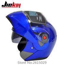 The latest  JIEKAI motorcycle helmets dual lens visors flip up motocross helmets warm windproof sand dust proof