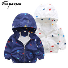 GOOPORSON Boys Jacket Printed Animal Hoody Wind Coat For Winter Baby Boy Clothes Kids Coat Fashion Design Children Jackets