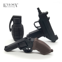 Easy Learning Cartoon Submachine Gun USB Flash Drive Pendrive 4G 8G 16G 32G handgun ak47 thumb drive usb 2.0 pistol Pendrive(China)