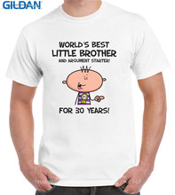Custom Shirts Gildan Best Friend Worlds Best Little Brother Men'S 30Th Birthday O-Neck Short-Sleeve Funny T Shirts For Men