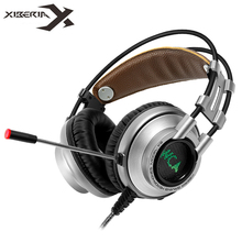XIBERIA K9 Gaming Headphones casque Super Stereo Bass Best Computers PC Gamer Headbands Headset with Mic / LED Breath Light(China)