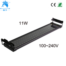 50-75cm Aquarium LED Lighting Fish Tank Light Lamp with Extendable Brackets 60 White and 12 Blue LEDs Fits for Aquarium(China)