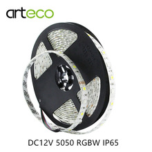DC12V 5050 RGBW LED strip Lights 60LEDs/m 5M IP65 waterproof 5050 LED strip RGBW / RGBWW flexible stirp Light(China)