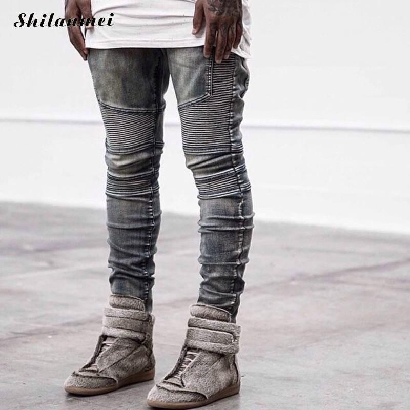 man biker jeans Denim Men warm Jeans fashion ripped men corduroy mens fake designer clothes baggy jeans black Îäåæäà è àêñåññóàðû<br><br>