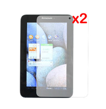 2x Clear films + 2x clothing , LCD Tranparent Screen Protector Protective Film Guards For Lenovo IdeaTab LePad A2107 A2207 7""