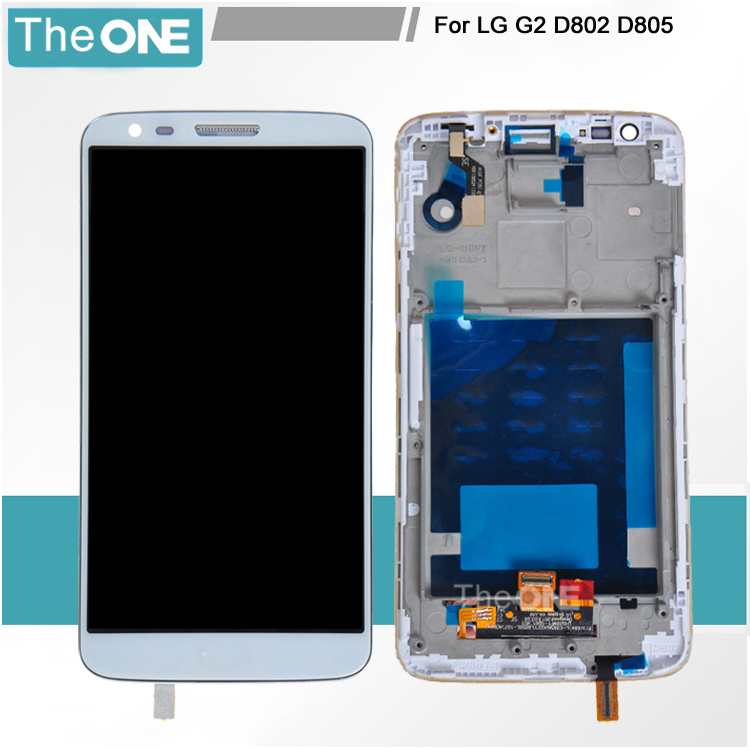 Black 100% Tested LCD Display Touch Screen Digitizer Assembly Frame For LG G2 D802 D805 Free Shipping+Track No<br><br>Aliexpress