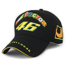 Rossi Moon 46 embroidered baseball cap five panel VR46 Motorcycle Racing Cap men women Baseball Hat adjustable bones snapback(China)