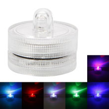 12 pcs RGB LED Tea Light Submersible Waterproof candles for Wedding Party decoration Club Decor