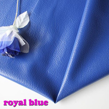 "Royal blue Big Lychee Pattern PU Synthetic Leather Faux Leather Fabric Upholstery Car Interior Sofa Cover  54"" Wide Per yard"