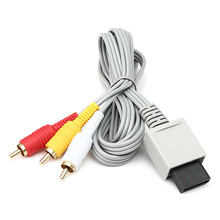 Hot Sale 1.8m 6FT Audio Video AV /TV Composite RCA Cable Cord For Nintendo For Wii Game Console