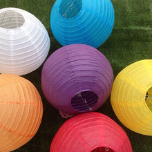 1pc 10 cm  15cm 20cm 25cm 30cm 35cm 40cm Round  Paper Lantern Birthday Wedding Party decor gift craft DIY wholesale LED Lamp