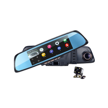 "6.86""Touch 2 Split View Android GPS Navigation Mirror Car DVR Dual Lens Camera Rear Parking WiFi FM Transmit RAM 1GB ROM 16GB"