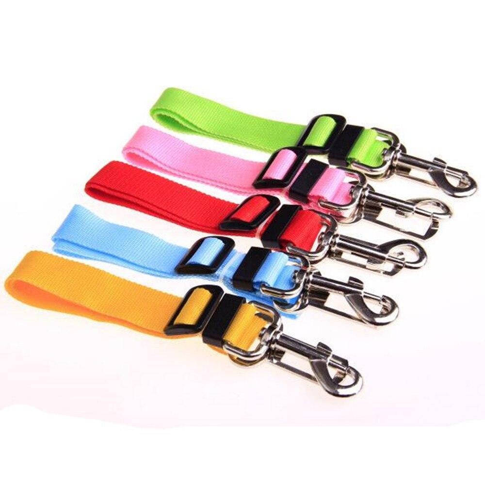 Perro Cintur/ón de Seguridad de Coche Arn/és del Cintur/ón de Nylon Ajustable Correas Universal para Transportar Mascotas Azul