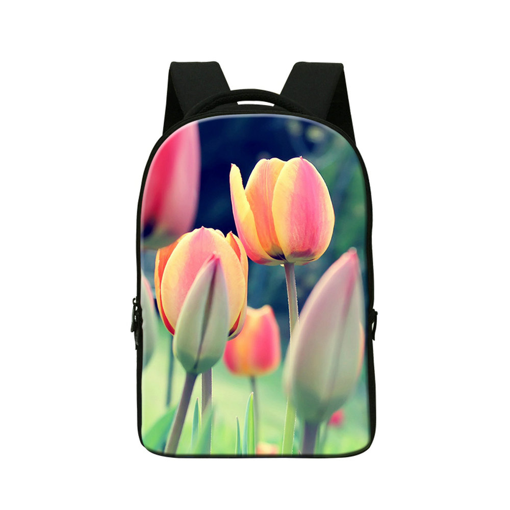 Dispalang customized flower buds women newest backpacks European style lady travel bag college students notebook laptop backpack<br>